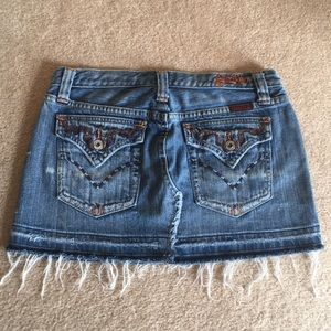 Miss Me jeans skirt